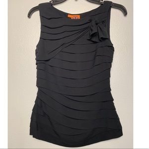 Tory Burch black pleated top size 0